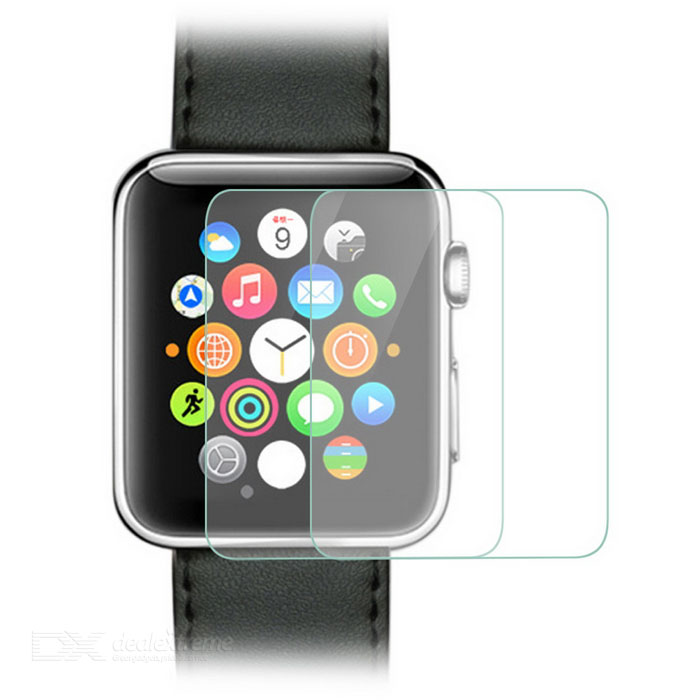 0.25mm Tempered Glass Film for Apple Watch 3.8mm - Transparent (2PCS)