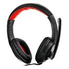 OVLENG 3.5mm Wired Headband Gaming Headphone Headset w/ Microphone & Wire Control - Black