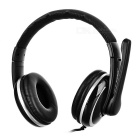 OVLENG 3.5mm Wired Headband Gaming Headphone Headset w/ Mic & Wire Control - Black + Silver Grey