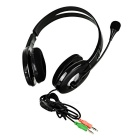 OVLENG 3.5mm Headphone Headset w/ Mic, Wire Control - Silver Grey