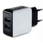 Square 2 USB 5V 3A AC Charger for IPHONE 6 / 6S, Samsung, Xiaomi, Tablet PC, Camera (EU Plug)