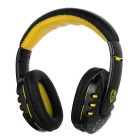 VYKON High Quality Universal Stereo Bluetooth Headphone - Black + Yellow