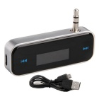 3.5mm Wireless Car FM Transmitter for IPHONE, Samsung - Silver + Black
