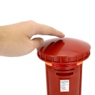 Retro Mailbox Style Touch Table Light LED Night Light Money Box - Red