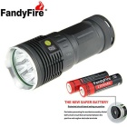 FandyFire XM-L T6 7-LED 6000lm Flashlight w/ Battery, Charger - Silver
