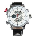 BESNEW Men's Multifunction Waterproof Sport Analog-Digital Display Quartz Watch - Silver + White