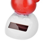 Solar Powered Dancing Chick Desk Table Decoration Car Decor - Red