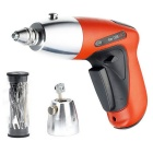 Portable Rechargeable Electronic Lock Pick Gun w/ US Plug Power Adapter - Orange + Black