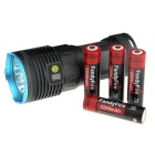 FandyFire XM-L T6 7-LED 6000lm High Power Flashlight - Blue