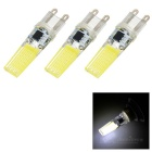 G9 5W 21-2508 COB Cool White Double Side Lighting Silicone Bulb (3PCS)