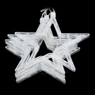 10W 3500K Warm White 168-LED Christmas Stars String Light - White