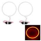 80mm 7W Red Light Highlight Angel Eye w/ Driver (2 PCS, DC 12~24V)