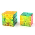 2x2x2 & 3x3x3 Rubik's Cube Magic IQ Cube Toys Set - Transparent + Multi-Color