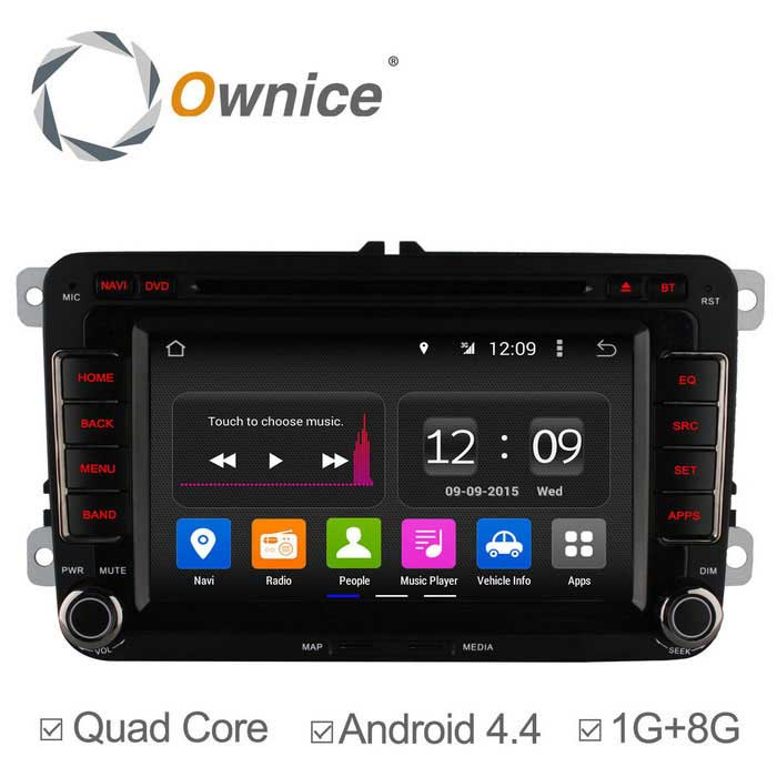"Ownice 7"" Android Car DVD Player for VW Golf, Polo + More - Black"