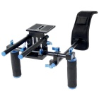YELANGU Camera Shoulder Mount Support Kit for DSLR / Video Camera - Black + Blue