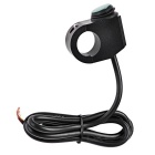 Motorcycle Handlebar Rocker Switch w/ LED for Headlight - Black+Green