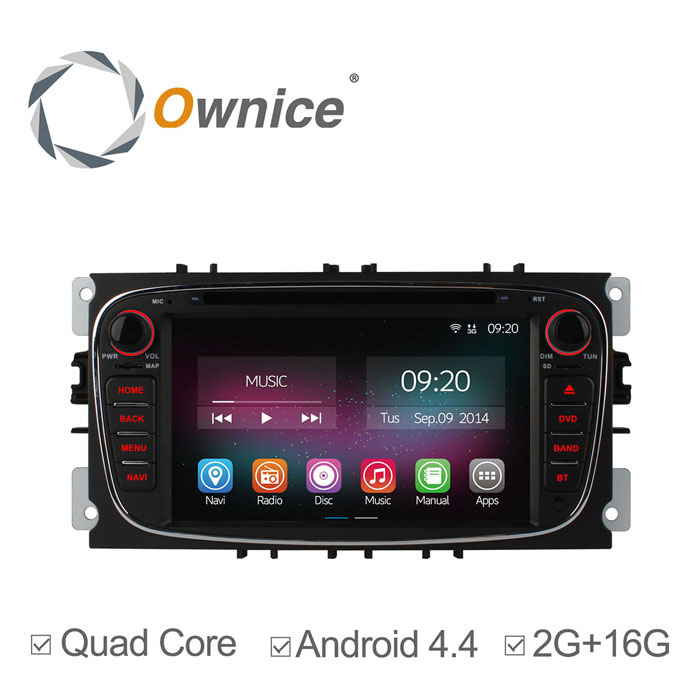"Ownice C200 7"" 1024*600 Car DVD Player for Ford - Black"