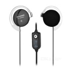 OVLENG 3.5mm Ear-Hook Headphone Headset w/ Mic, Wire Control - Black