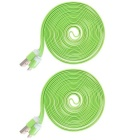 Micro USB M to USB 2.0 M Flat Cable for Samsung - Green (3m / 2PCS)