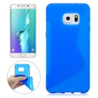Angibabe Ultra-thin TPU Soft Rubber Back Cover Case for Samsung Galaxy S6 Edge Plus G9280 - Blue