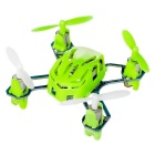 Hubsan Q4 H111 nano 4-Channel RC quadcopter w / sistema de rádio 2.4GHz - verde