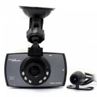 "2.7"" HD 1080P Dual Camera Car DVR Camera w/ IR Night Vision - Grey"