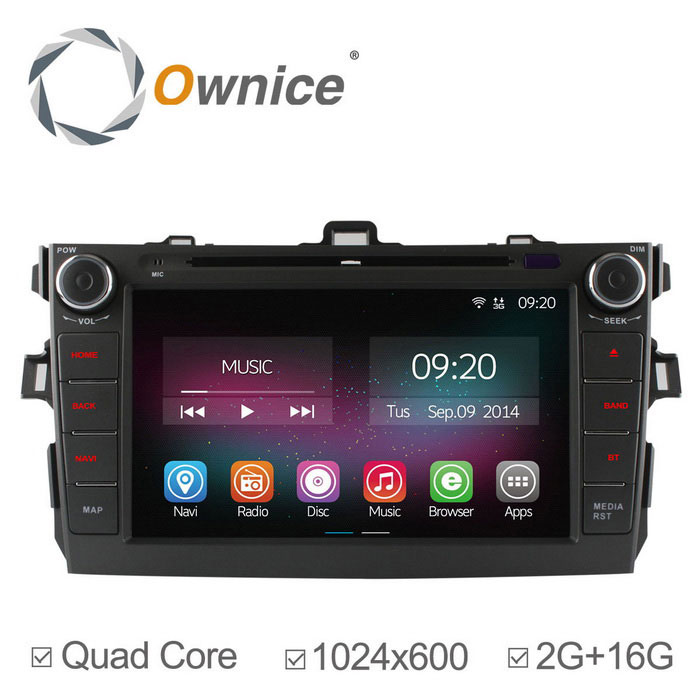 Ownice C200 2GB RAM 1024 x 600 Car DVD Player for Corolla 2007~2010