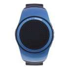 Sport Music Bluetooth V2.1 Speaker Watch w/ Hands-free, Selfie Remote, FM, Anti-lost, TF - Blue