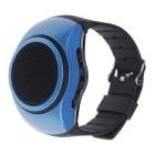 Sport Music BT Speaker Watch w/ Selfie Remote, FM,Anti-lost, TF - Blue