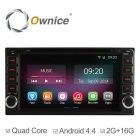 "Ownice C200 6.95"" 2GB RAM 1024x600 Quad-Core Android 4.4 Car DVD Player for Toyota Corolla & More"