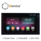 Ownice C200 2G RAM 1024*600 Quad Core Android 4.4 Car Video Player For Nissan Universal 2 Din