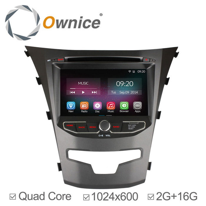 "Ownice C200 7"" 2GB RAM 1024x600 Car DVD Player for Sssangyong Korando"