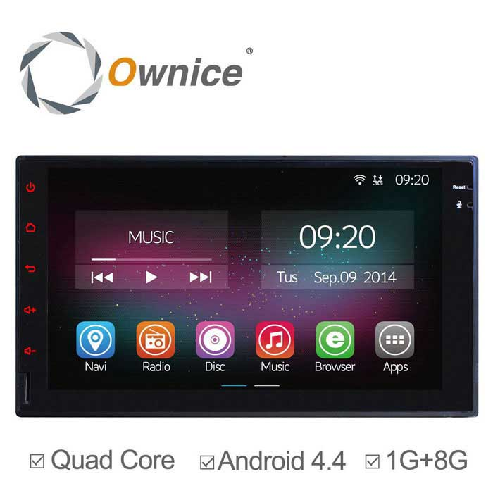 Ownice C200 carro Android DVD Player para Nissan Universal 2 Din