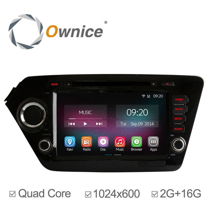 "Ownice C200 8"" 2GB RAM 1024 x 600 Car DVD Player for Kia K2 / Rio"