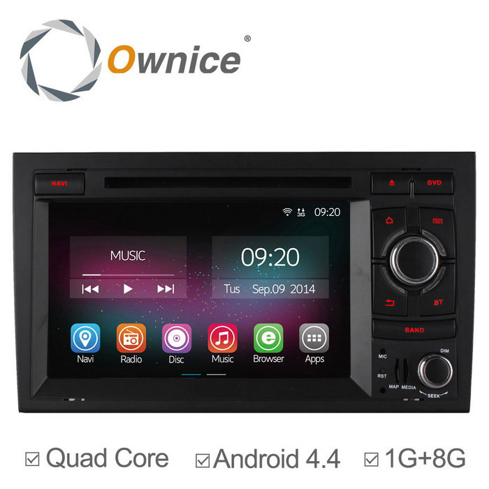 Ownice C200 Android 4.4 Car DVD Player for Audi A4, S4 + More