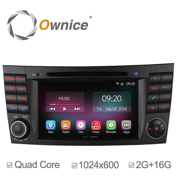 Ownice C200 2 GB de RAM Android 4.4 DVD do carro para Benz W211 + Mais