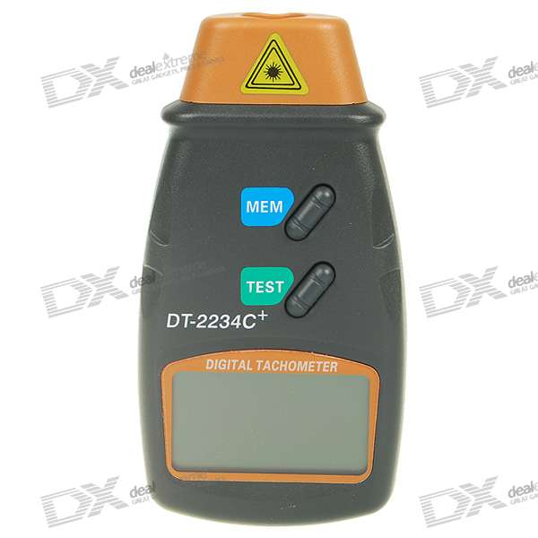 "2.2 ""LCD Laser Digital Photo Tachometer - Dark Gray Laranja +"