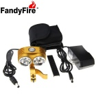 FandyFire XM-L T6 6-LED 5000lm Cool White 3-Mode Highlight Bicycle Bike Light - Golden (6 x 18650)