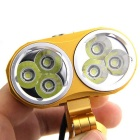 FandyFire XM-L T6 6-LED 5000lm Cold White 3-Mode Bike Light - Golden