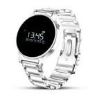 "J1 0.97"" Round Screen Smart Watch w/ Sync. SMS, Remote Camera - Silver"