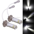 MZ H3 3W 1 CREE XB-D + 4-2835 SMD LED Car Fog Light / Headlights Double HD Lens White (1Pair 12V)