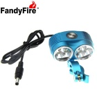 FandyFire XM-L T6 6-LED 4800lm Cool White 3-Mode Highlight Bicycle Bike Light - Blue (4 x 18650)