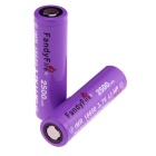 "FandyFire Super Power ""2500""mAh 18650 Rechargeable Battery w/o Protected Board (2PCS)"
