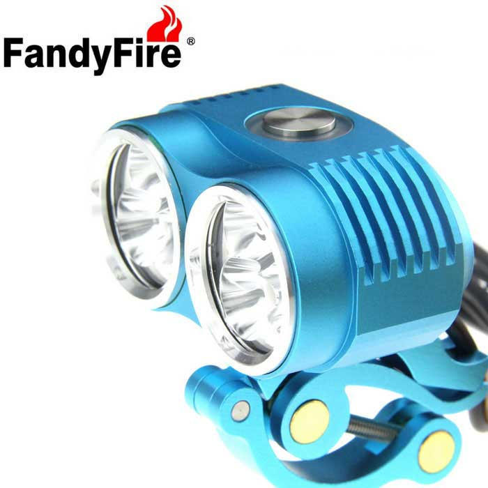 FandyFire XM-L T6 6-LED 5800lm Cold White 3-Mode Bike Light - Blue