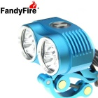 FandyFire XM-L T6 6-LED 5800lm Cool White 3-Mode Highlight Bicycle Bike Light - Blue (4 x 26650)