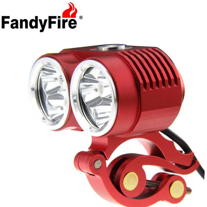 FandyFire T6 6-LED 5800lm 3-Mode Highlight Bicycle Bike Light - Red