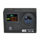 "2-Screen Action Camera 12MP Mini Sport DV w/ 2"" LCD, Wi-Fi,1080p, 4K"