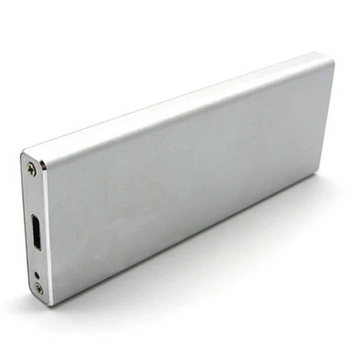 M.2 NGFF SSD to USB3.1 Type-C HDD Enclosure - Silver