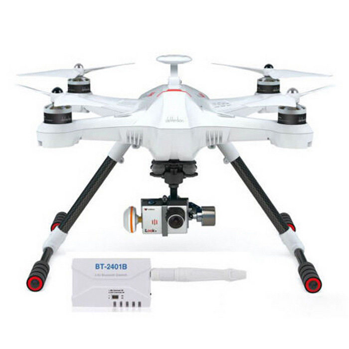 Walkera SCOUT X4 + F12E Quadcopter ILOOK+ Cam / Gimbal Kit - White