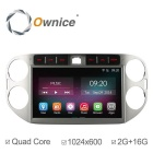 "Ownice C200 2G RAM 1024*600 10.1"" Quad Core Android 4.4 Car Video Player For VW Tiguan 2013-2015"